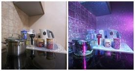 Дөнгөж цэвэрлэсэн гэртээ хэт ягаан гэрэл тусгаж хартал...