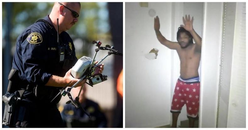 Гэмт хэрэгтнийг анх удаа дрон ашиглан баривчилжээ