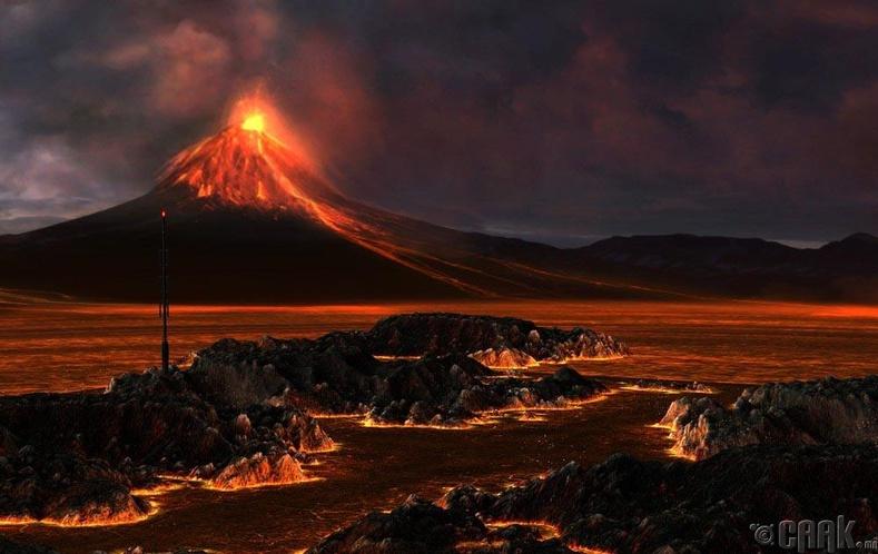 Нарны аймгийн хамгийн том галт уул