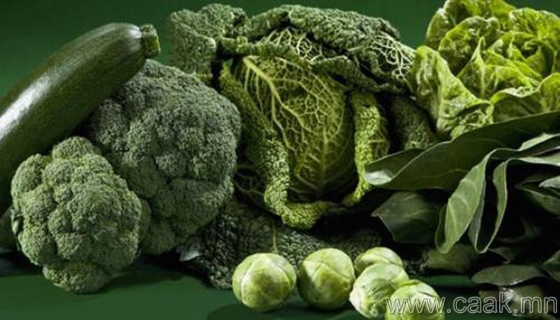 Ногоон өнгөтэй жимс ногоог түлхүү хэрэглэх хэрэгтэй.