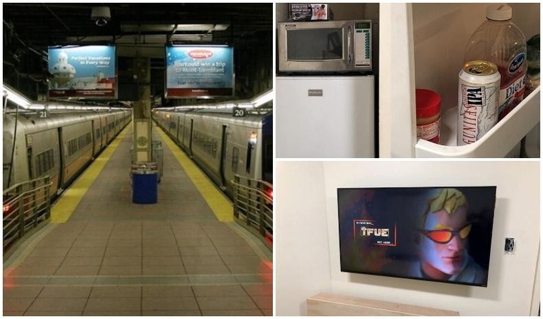Нью-Йоркийн метроны буудлаас эрчүүдийн нууц оромж олджээ