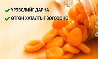 Биед хамгийн ашиг тустай хатаасан жимснүүд