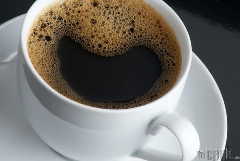 Кофены дээр хөвөх бөмбөлөг