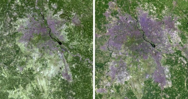 Энэтхэгийн Шинэ Дели хотын тэлэлт