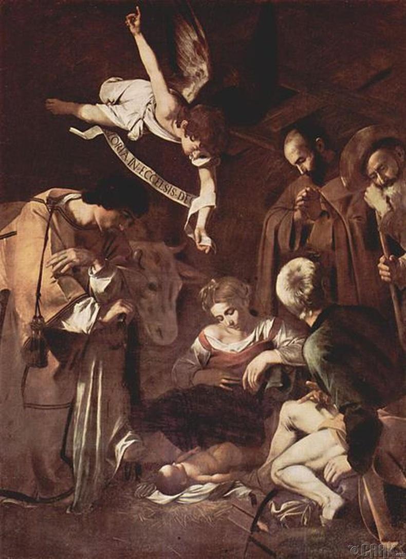 """Христ мэндлэхүй"" (Nativity with St. Francis and St. Lawrence | Caravaggio)"