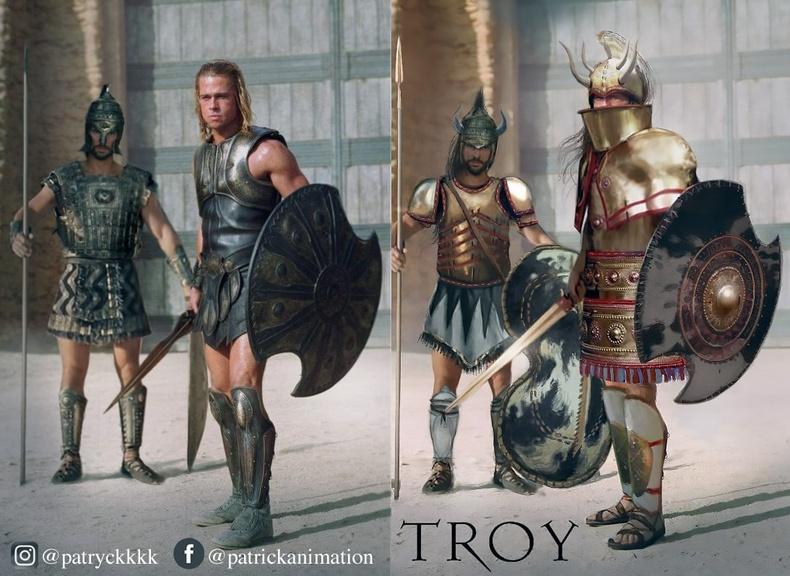 """Акилис болон Хектор (Achilles, Hector) - """"Troy"""""""