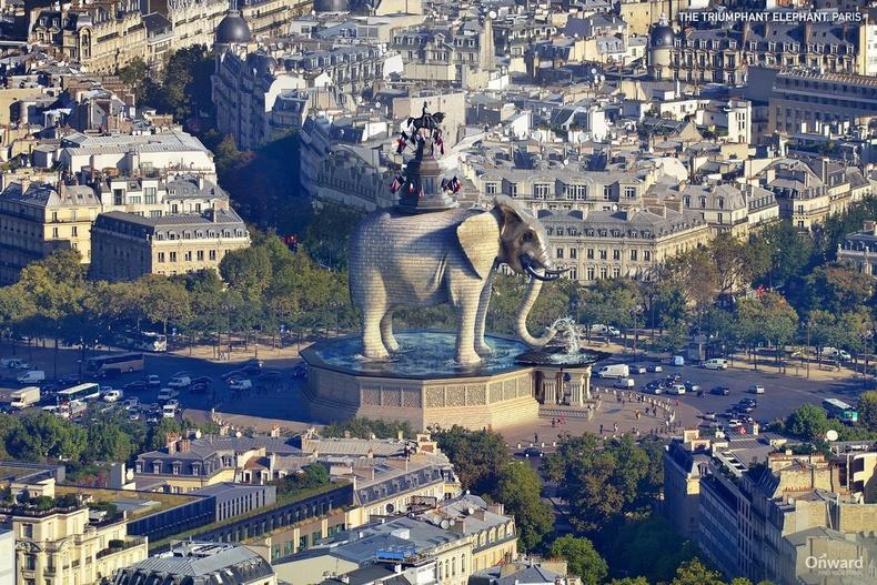 Ялалтын заан, Парис