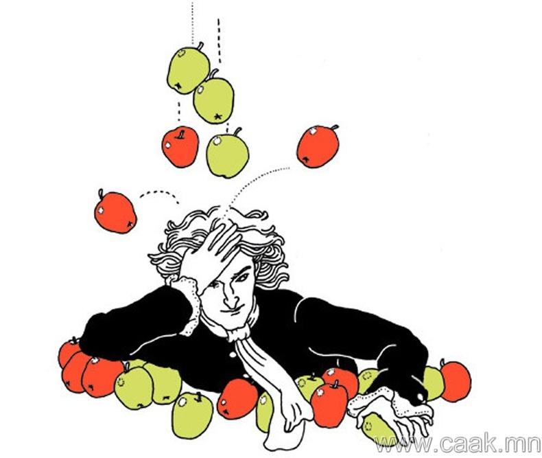 Ньютон алимны тусламжтайгаар таталцлын хуулийг нээсэн