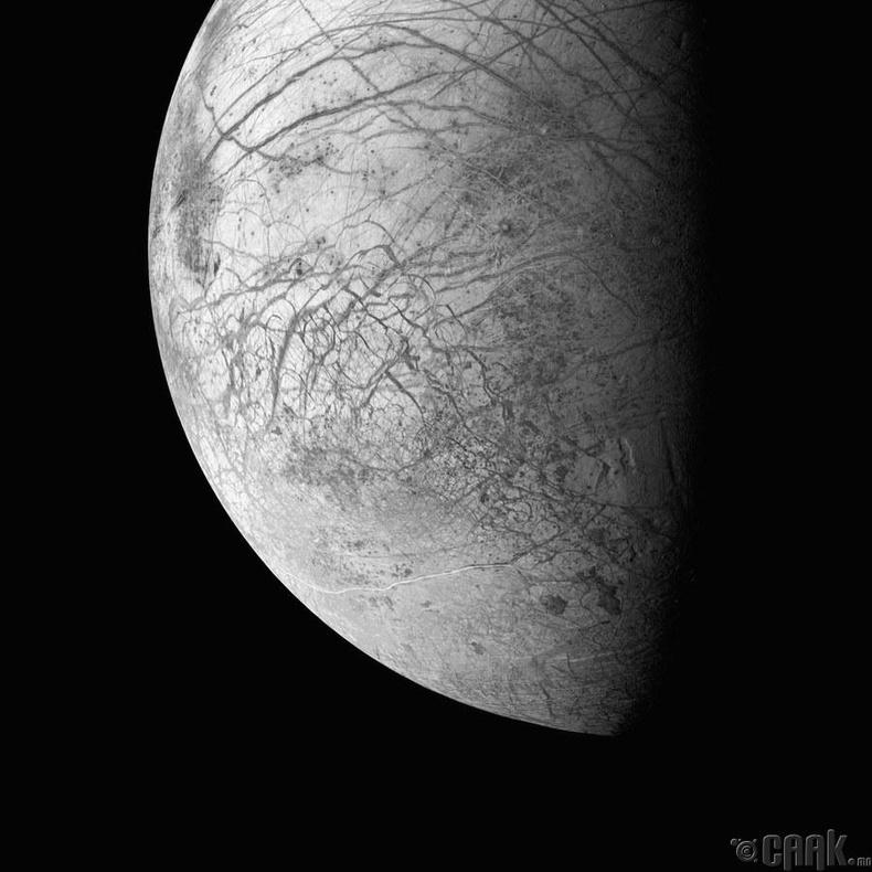 Бархасбадь гаригийн дагуул Европагийн гадаргуу