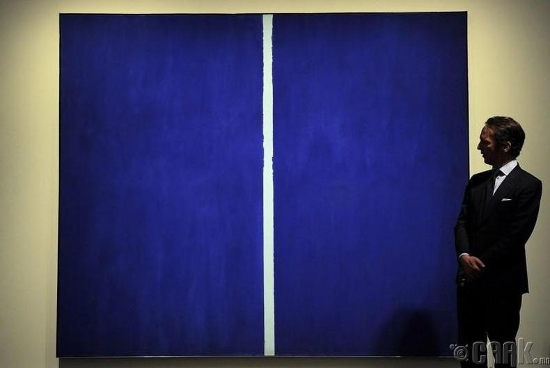 """Барнетт Ньюман """"Onement VI""""- 43.8 сая доллар"""