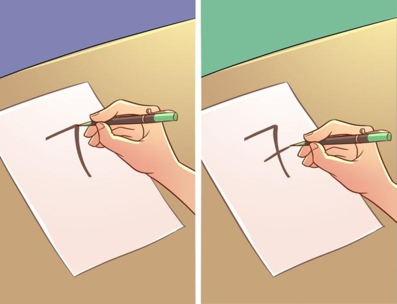 7-гийн тоог хэрхэн бичиж буйгаараа ялгаатай
