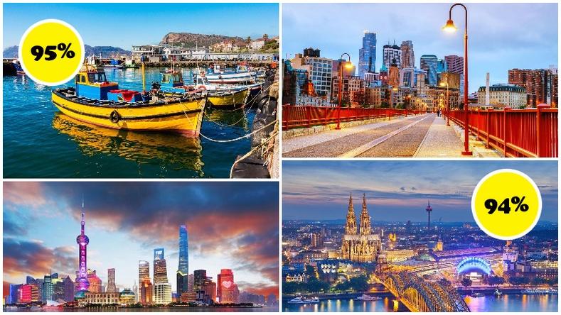 Жуулчдаас өндөр үнэлгээ авсан, амьдрахад хамгийн тохиромжтой хотууд