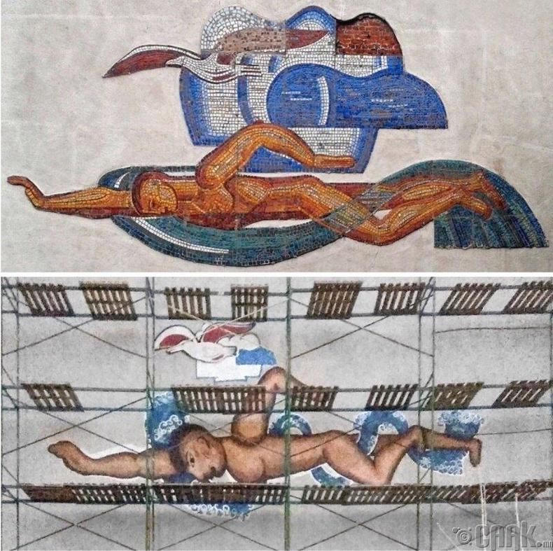 Зөвлөлтийн үеийн усанд сэлэгч, цахлайн зургийн өөрчлөлт жинхэнэ шуугиан тарив