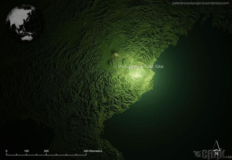 """Хойд Солонгосын """"Пунгери"""" цөмийн туршилтын төв"""