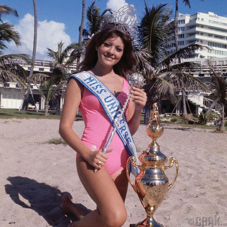 """""""Miss Universe-1971""""-ын ялагч: Ливаны гоо бүсгүй Делиа Риск, 18 настай, 173 см өндөр."""