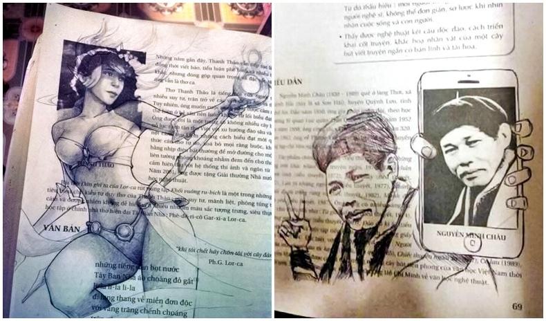 Номон дээр зурсан дэггүй хүүхдүүд