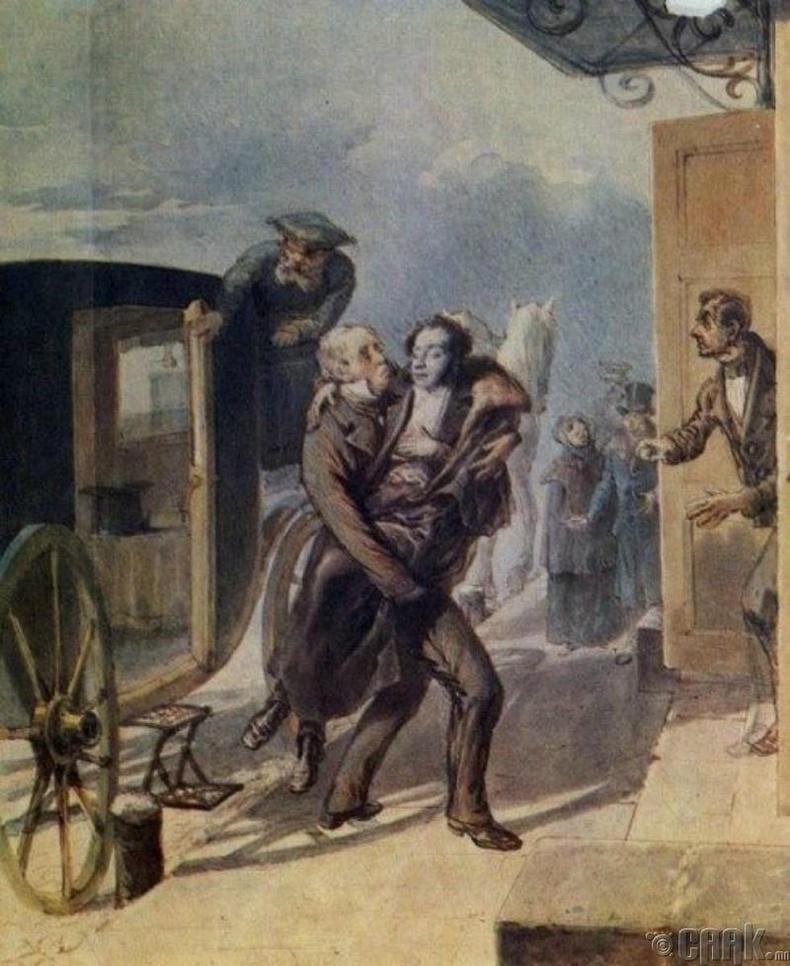 Пушкинийг эмнэлэг рүү бус гэрт нь аваачсан