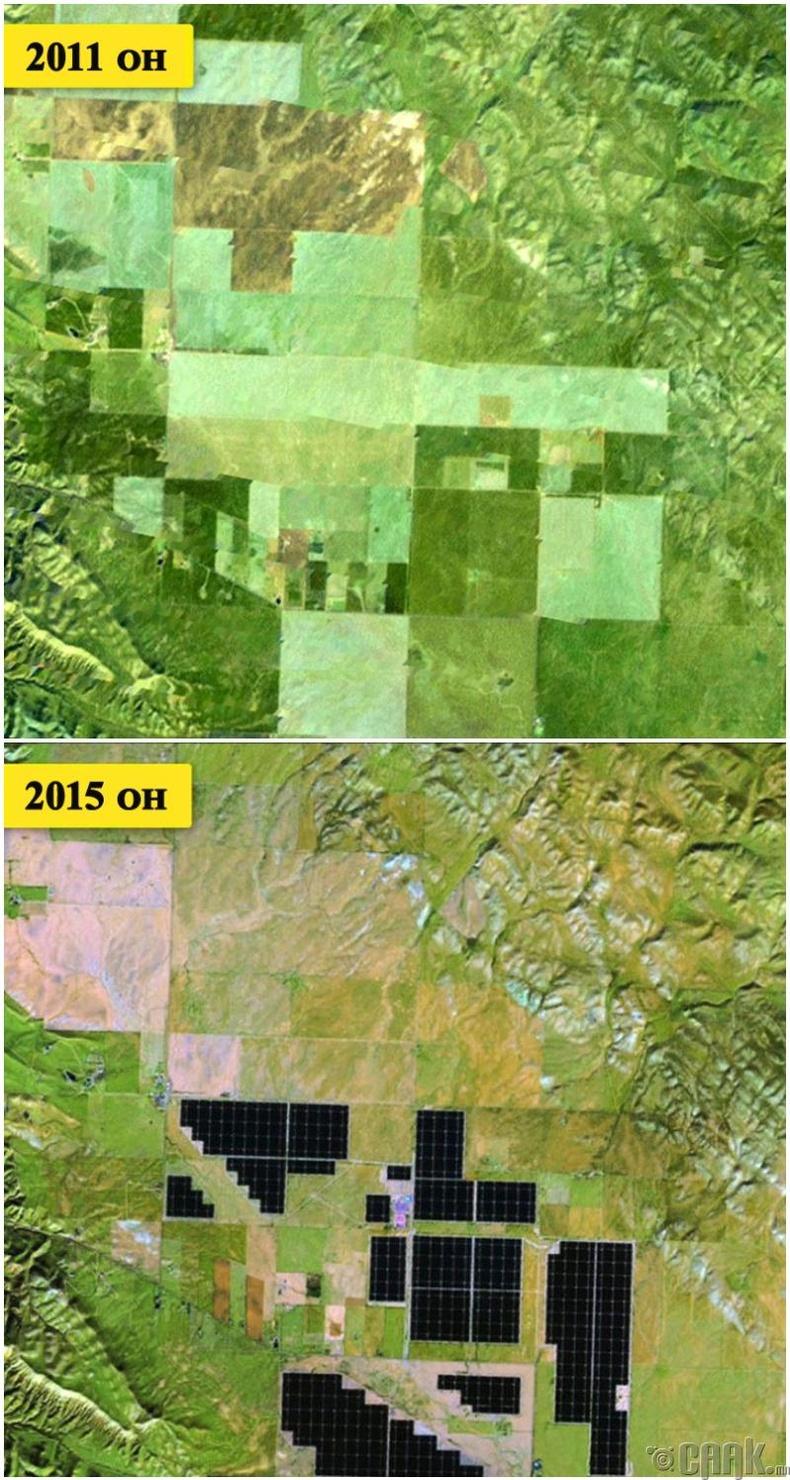 Цөл дэх нарны цахилгаан станц ногоон эрчим хүчний төгсгөлгүй эх үүсвэр