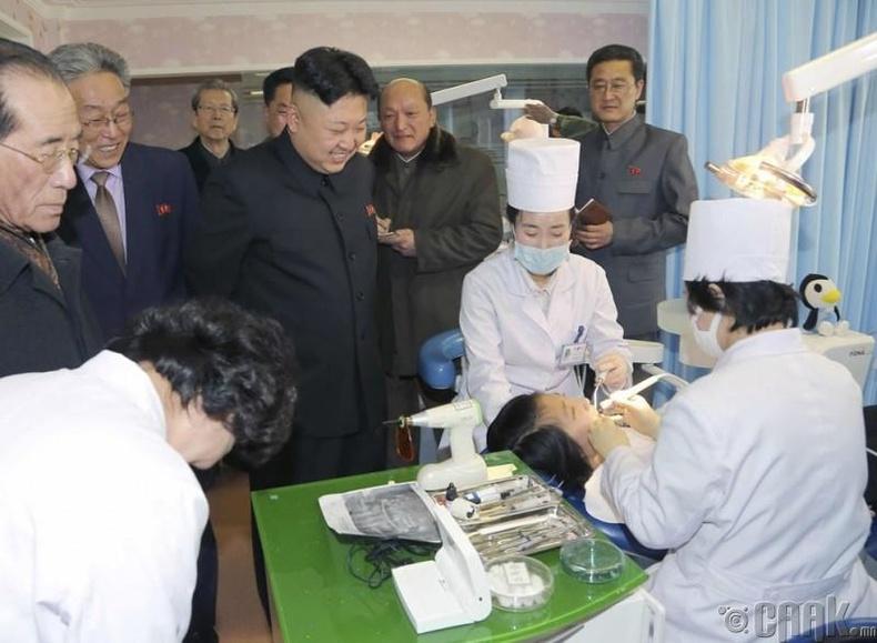 Пхеньяны Руген шүдний эмнэлэгт зочилсон нь, 2014 оны 3 сарын 22