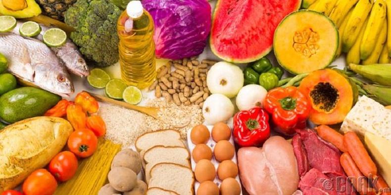 Эрүүл хоол хүнс хэрэглэх