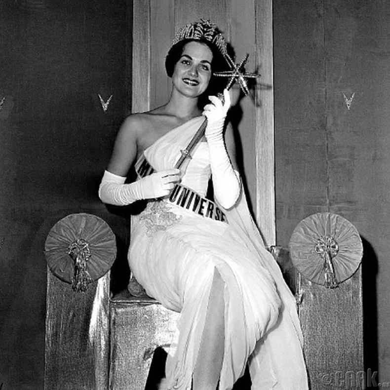 """Miss Universe-1960""-ын ялагч: Америкийн гоо бүсгүй Линда Бэмент, 18 настай, 167 см өндөр."