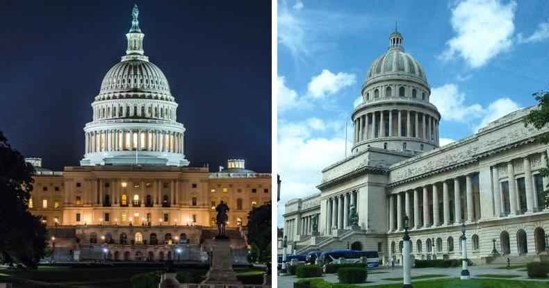 Вашингтон дахь (АНУ) Капитол, Хавана дахь (Куб) Капитол.