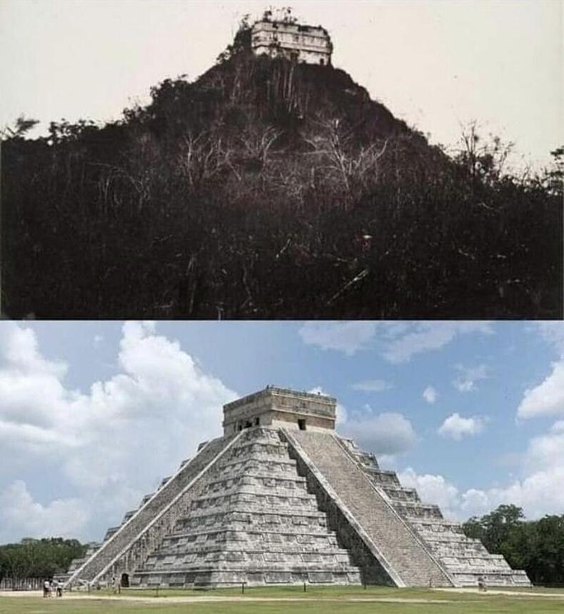 Эртний Маяачуудын Чичен-Ица хот дахь Кукулькан сүм - 1982 он ба өнөө үе.
