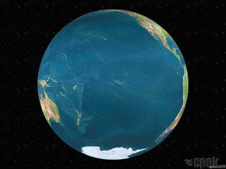 Номхон далай дэлхийн бөмбөрцгийн хэдэн хувийг эзэлдгийг уг зургаас харж болно