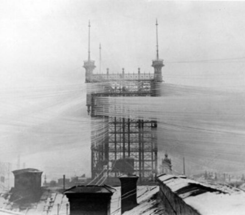 Стокгольм хот дахь харилцаа холбооны цамхаг - 1890 он