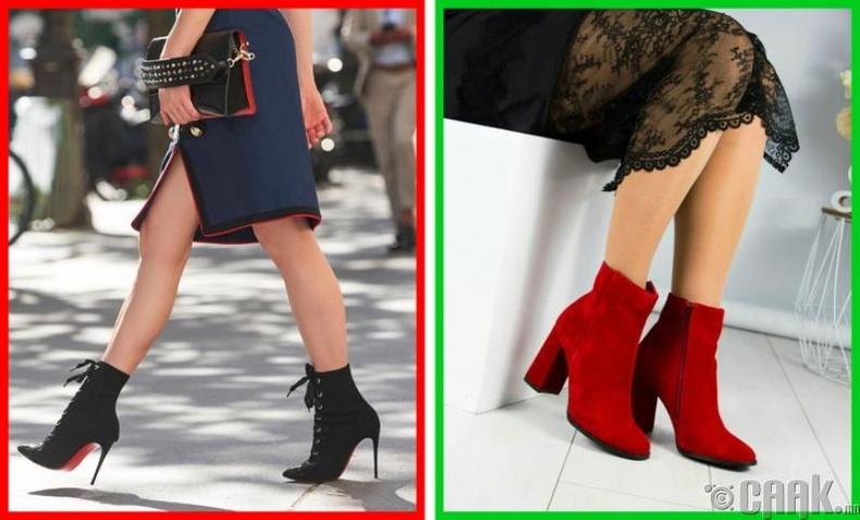 Хэт өндөр, нарийхан өсгийтэй гутал