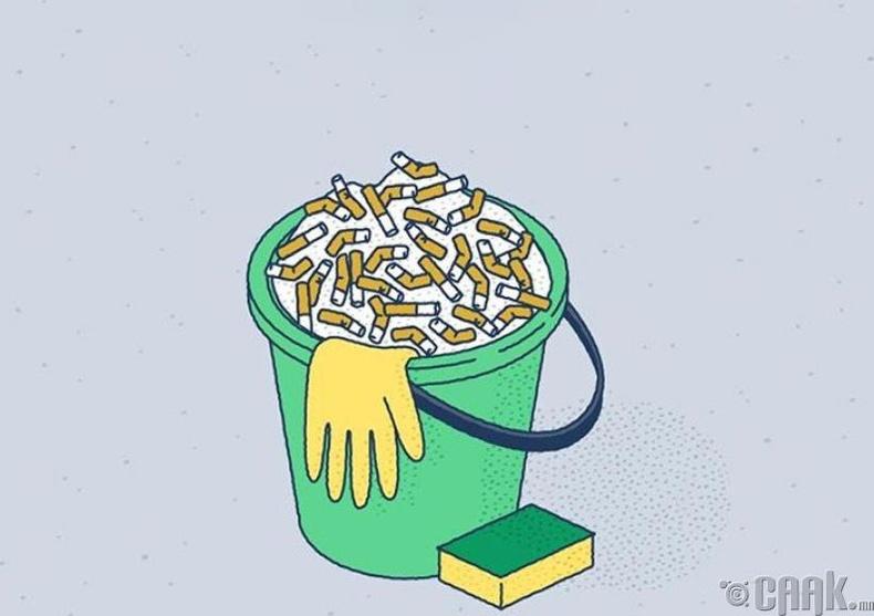 Гэр орноо цэвэрлэх нь нэг хайрцаг тамхи татсантай ижил эрүүл мэндэд хортой