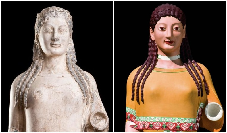Эртний Грекийн баримлуудын жинхэнэ өнгө ямар байсан бэ?