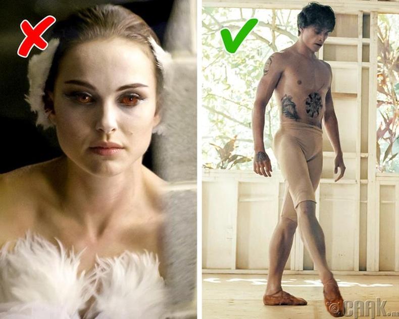 Ямар кино балетчидын амьдралыг илүү бодит, үнэнээр нь харуулсан байдаг вэ?