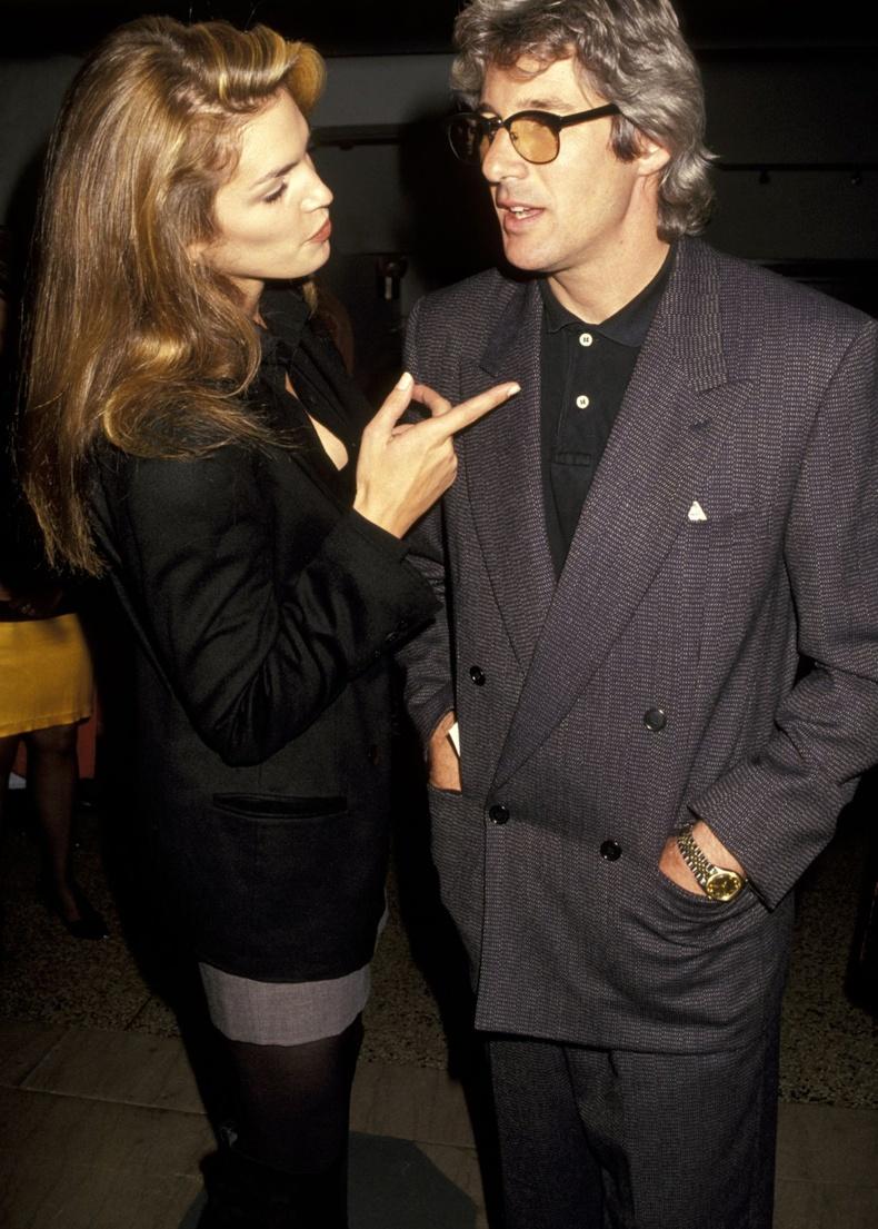 Синди Кроуфорд болон Ричард Гир, 1990 он.