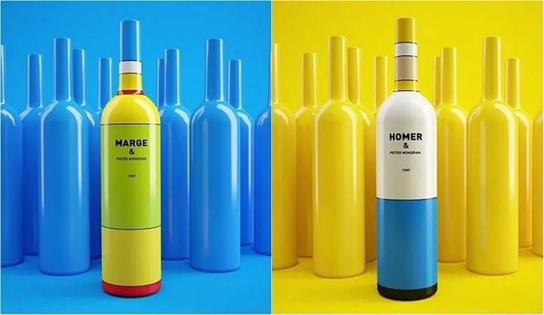 Хомер Симпсон болон Марж Симпсоныг санагдуулам лонхтой дарс. Белоруссын дизайнер Константин Болимонд