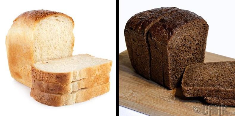 Хар, цагаан талхны ялгаа