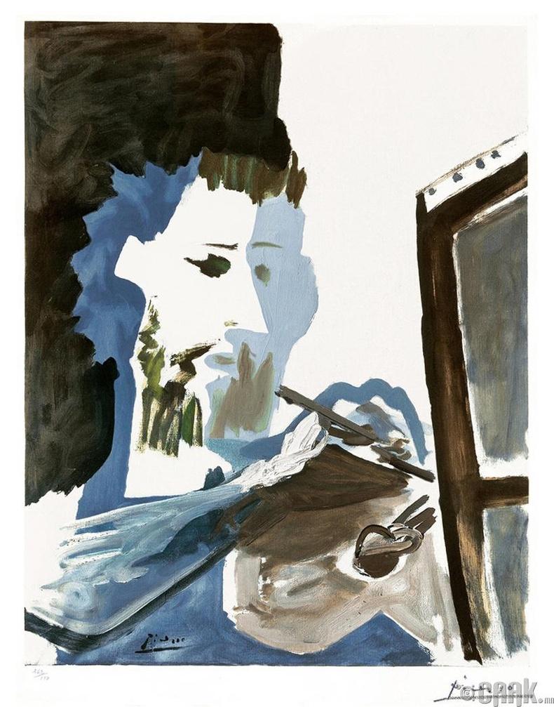 """Пикассогийн бүтээл """"Зураач"""""""