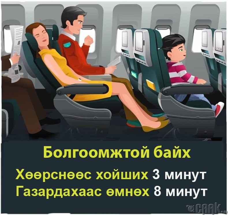 Онгоцонд явахдаа анхаарах
