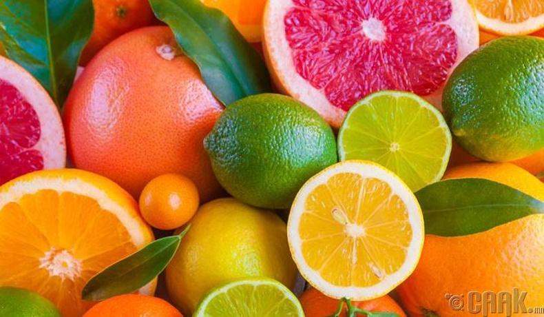 Цитрусын гаралтай жимснүүд