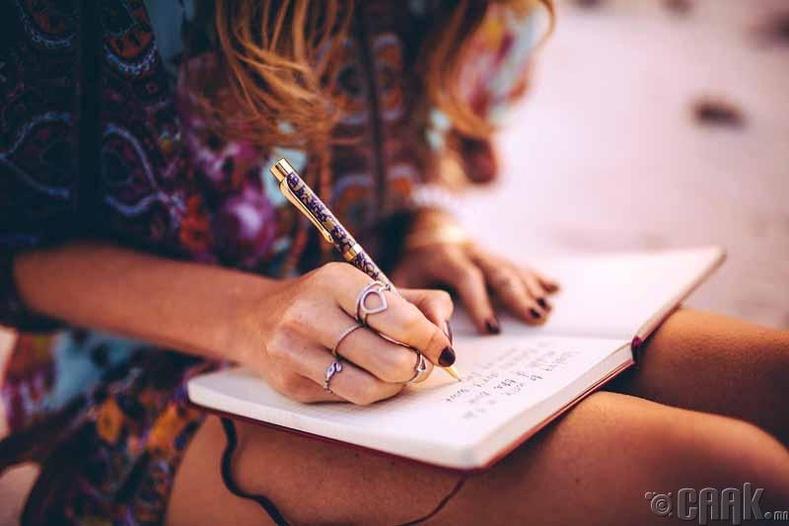 Долоо хоног бүр суугаад өөрийн амжилтаа бич