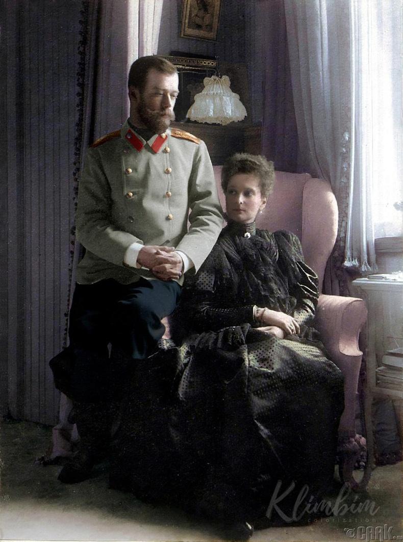 Оросын сүүлчийн эзэн хаан Николай II болон хатан хаан Александра Фёдоровна - 1899 он