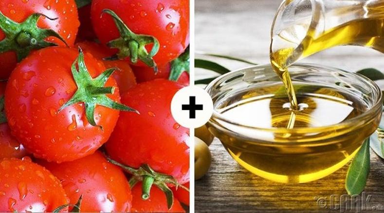 Улаан лооль болон оливын тос