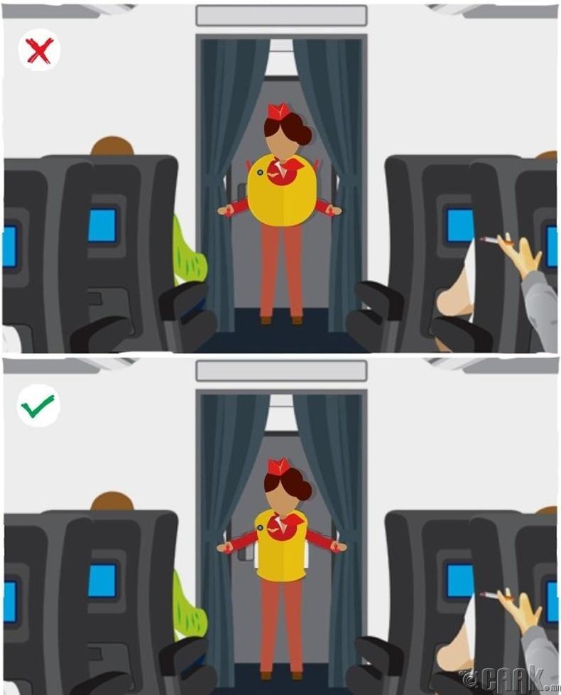 Онгоцноос буух хүртлээ аврах хантаазыг хийлж болохгүй