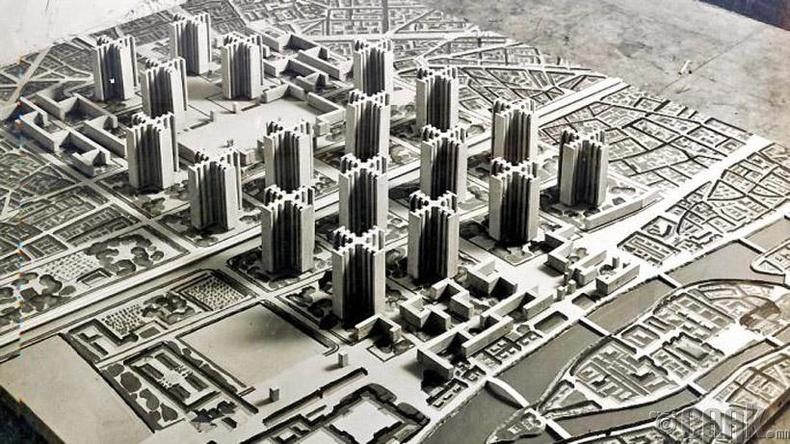 """""""Орчин цагийн хот"""" (Ville Contemporaine) - Парис хот, 1922 онд"""