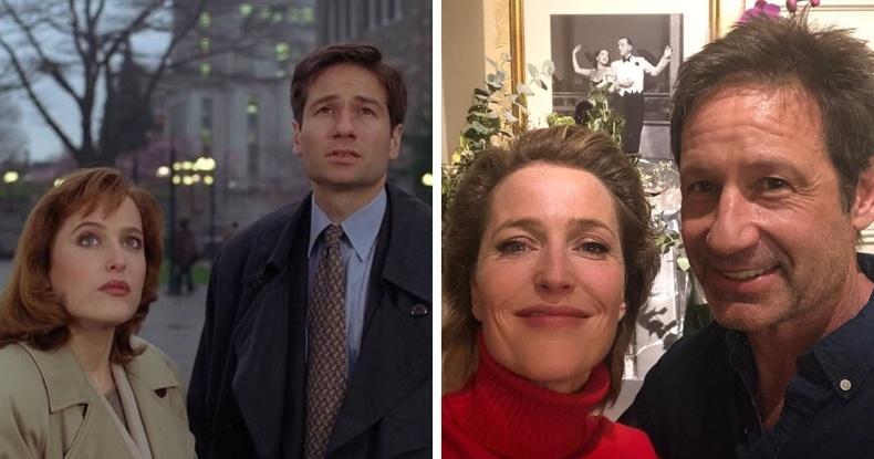 """""""The X-Files"""" кинонд тоглосон Дэвид Дюковни, Жиллиан Андерсен нар"""