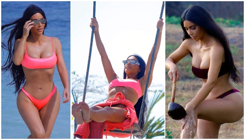 Ким Кардашиан Бали арал дээр амарч, тачаангуй биеэ гайхуулав!