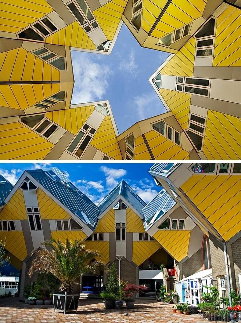 Куб хэлбэртэй байшингууд - Роттердам хот, Нидерланд