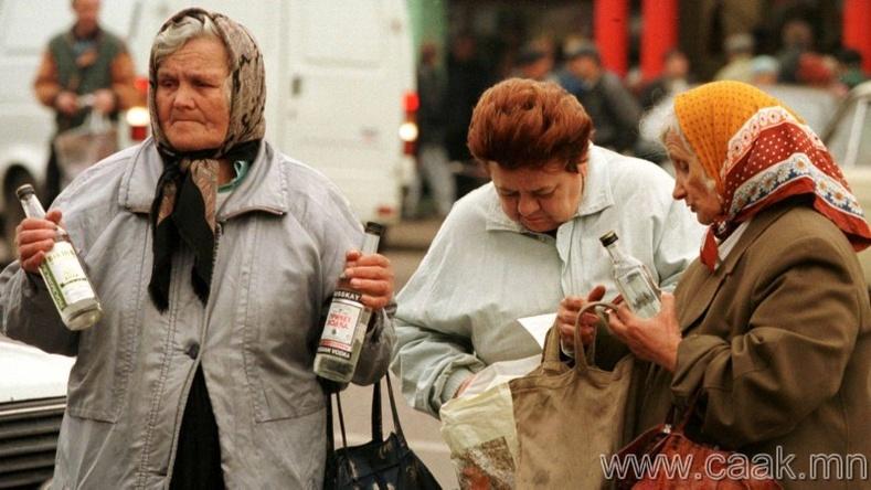 Орос - Нэг хүнд оногдох архины хэмжээ 10.12 литр