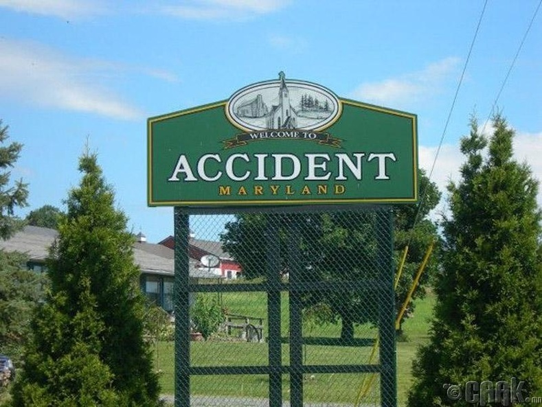 Санаандгүй байдлаар ирэгсдийн хот - Аксидент, Мэриленд муж, АНУ