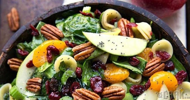 Гоймон, алим, пекан самартай салат